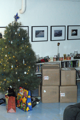 The weather outside is frightful, but the six boxes of unbelievably delicious beef under the tree? So delightful.